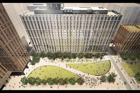 Circle Square, Manchester overhead view